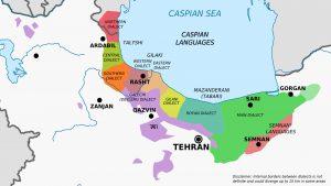 نقشه زبانهای کاسپین
